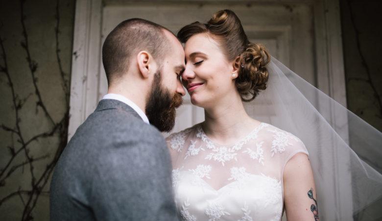 Northbrook Park wedding bride and groom portriat